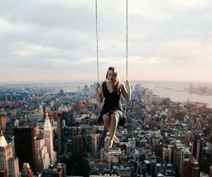 city, photography, and swing image