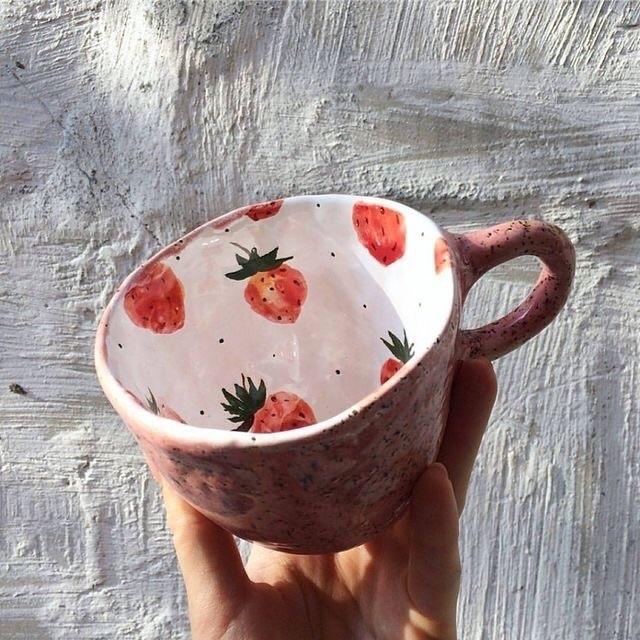 strawberry, cup, and mug image