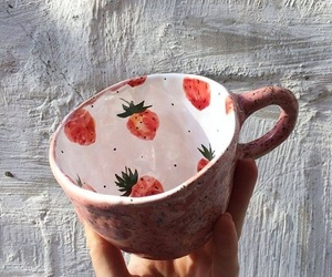 strawberry, cup, and mug image