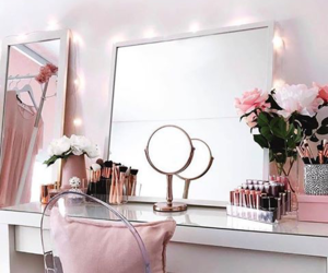 home, mirror, and pink image