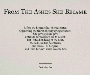 ashes, grow, and quotes image