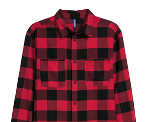flannel, lumberjack, and red image