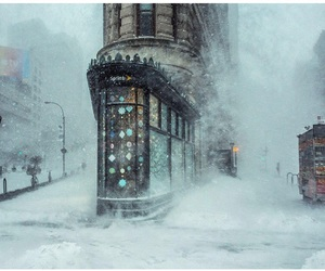 new york, winter, and snow image