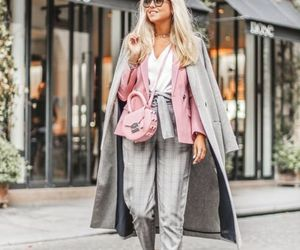 scarf, sneakers, and neutral fall outfit image