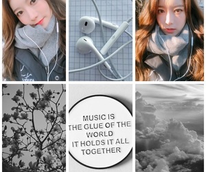 aesthetic, Collage, and gray image