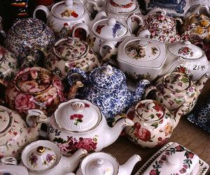 tea, teapot, and vintage image