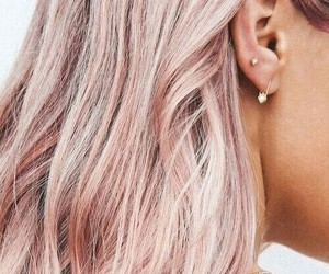 hair, girl, and pink image
