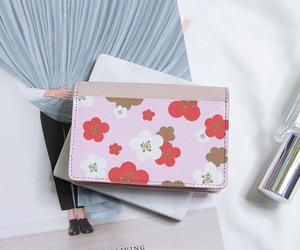 flower, genuine leather, and custom wallet image