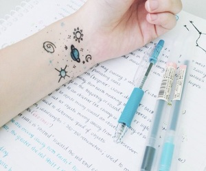 aesthetic, pen, and tattoo image