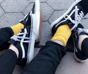 alternative, vans, and yellow image