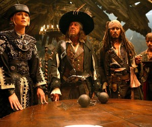 pirate, pirates of the caribbean, and geoffrey rush image
