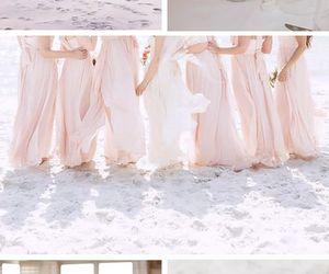 beach, bridesmaids, and wedding image