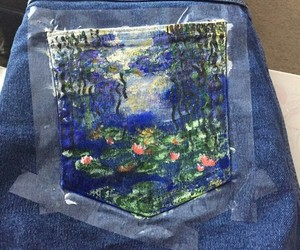art, clothes, and monet image