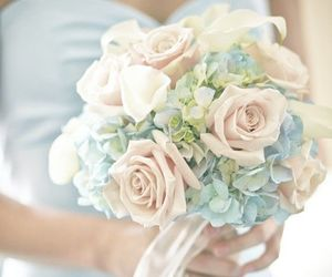 flowers, wedding, and pastel image