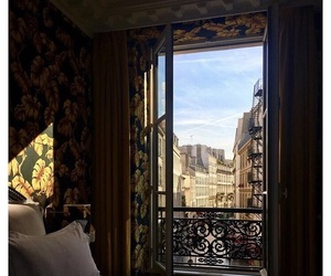 paris, room, and view image