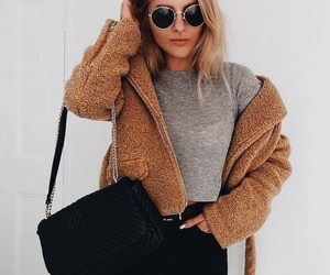 fashion, girl, and glasses image