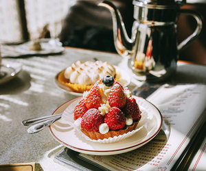 food, strawberry, and vintage image
