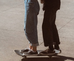 friends, couple, and skate image