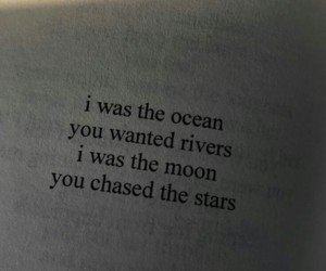 quotes, moon, and ocean image
