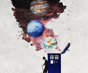 doctor who, tardis, and universe image