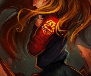 harry potter, gryffindor, and art image