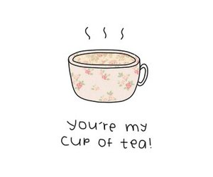 tea, pink, and cup image