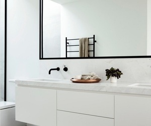 bathroom, style, and white image
