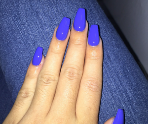 nails, girl, and hands image