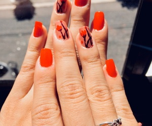 design, nails, and nude nails image