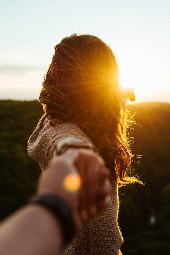 couple, sun, and sunset image