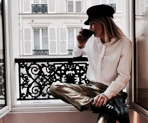 fashion, city, and drink image
