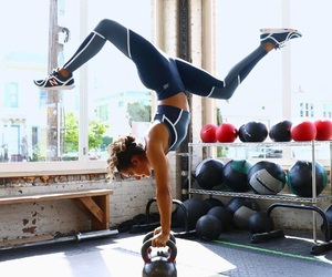 fitness, workout, and girl image