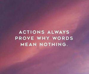 quotes, words, and actions image