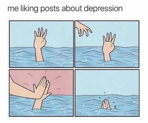funny, depression, and lol image