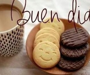 coffee, morning, and buenos días image