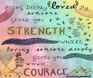 courage, love, and phrases image