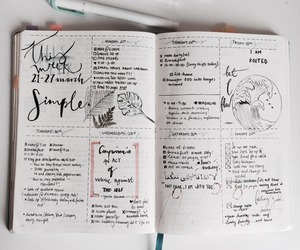 bullet, diary, and planner image