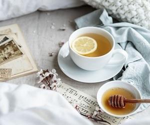 tea, honey, and coffee image