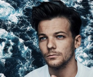 wallpaper, waves, and louis tomlinson image