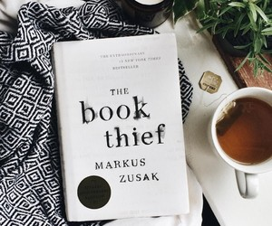 book, tea, and the book thief image