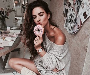 donut, girl, and fashion image