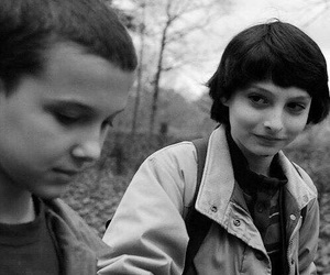 stranger things, eleven, and mike wheeler image