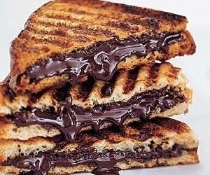chocolate, dessert, and nutella image