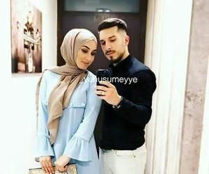 couple, hidjab, and musulmans image