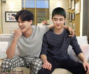 bear, kai, and do kyungsoo image
