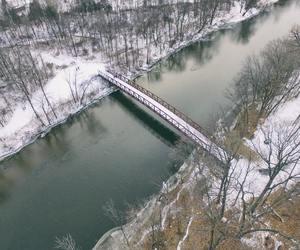 bridges, snow, and water image