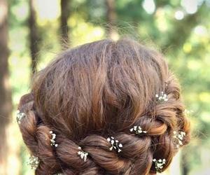 boho, braid, and braids image