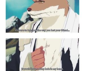 bleach, sad quote, and komamura image