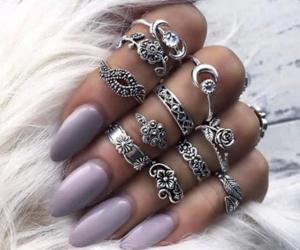 makeup, nails, and rings image