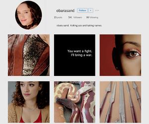 sand snake, obara sand, and instagram profile image